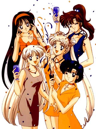"Cartoon characters from ""Sailor Moon."""