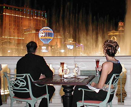 Guests At Olives At Bellagio Enjoy The Lights Of The Strip From The  Restaurantu0027s Outdoor Dining Area.