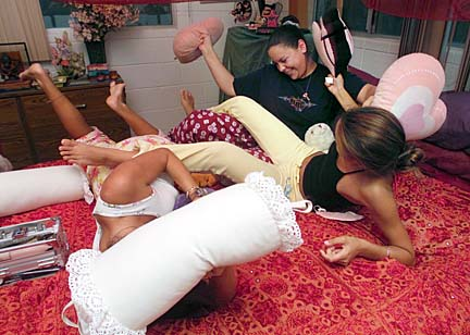 a sleepover to promote pure, innocent teen fun