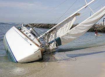 Image result for sailboat aground