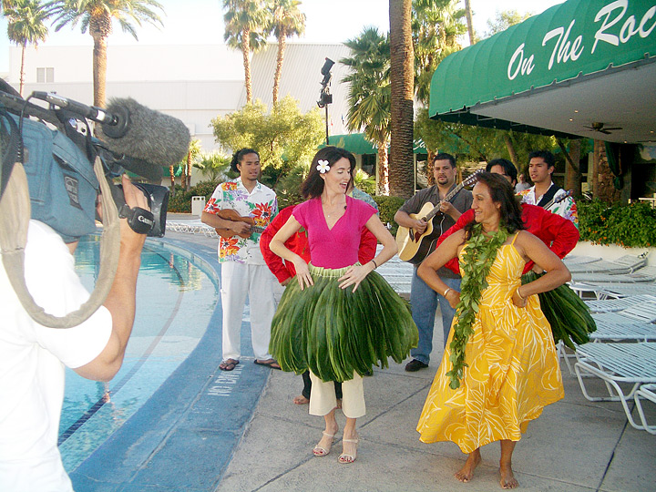 ... Kyla Grogan » Takamine Delivers Hula Lesson To Kyla Grogan In